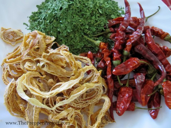 Dried vegetables will add flavor and nutrition to your winter meals.