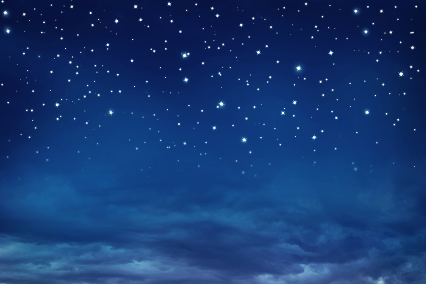 Nightly sky with stars