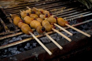 Grilled Edible Palm Weevil Larvae