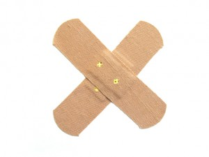 Bandages to hold the dressing