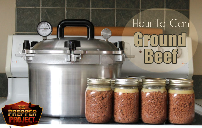 How To Can Ground Beef via https://theprepperproject.com