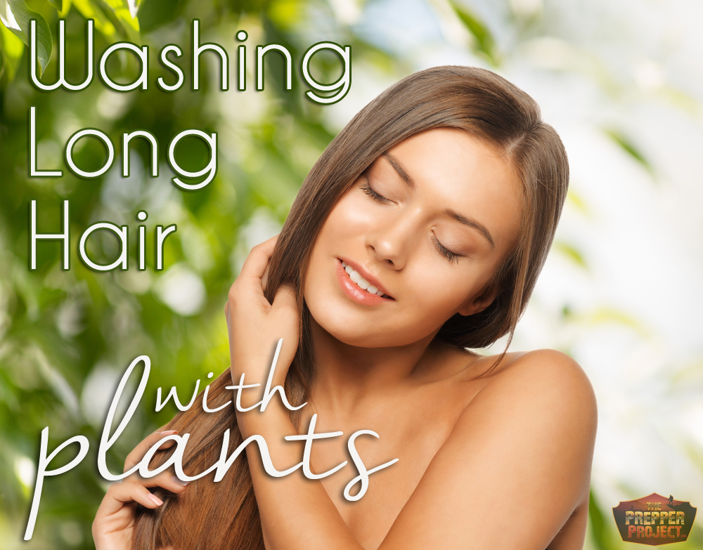 Washing Long Hair With Plants